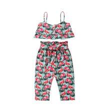 2 piezas Flamingo patrón de ropa de verano para niñas princesa bebé recién  nacido bebé sin mangas Niña Sling Tops + Pantalones d. ffd8457e0f10