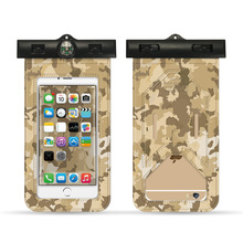 camouflage mobile phone waterproof bag swimming arm smart touch screen case
