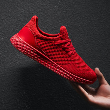 2019 New Breathable Mesh Man Running Shoes Lightweight red black Jogging Walking Sport Shoes Male Footwear Trainer Sneakers Men