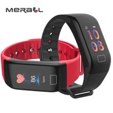 Smart Wristband Blood Pressure Monitor Oximeter Digital Arm Tensiometers Measuring Black H