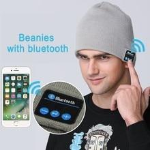 Men Beanies Wireless Bluetooth Headphones Music Hat Smart Caps Headset Earphone Warm Beanies Winter Hat with Speaker Mic Sport klv new brand 1pc warm hat wireless bluetooth smart cap headset headphone speaker mic