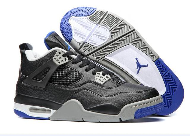 cdc6a94afbb9 Free shipping Jordan Air Retro 4 IV Basketball Shoes Low help Sneakers  White   Blue Men s Basketball Shoes Jordan 4