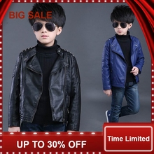 Faux Leather Jackets European and American Style Children Fashion Coats Boys Girls Outerwear Spring & Autumn