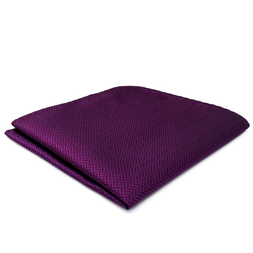 CH11 Wedding Classic Mens Pocket Square Purple Solid Silk Hanky Unique Handmade Fashion Handkerchiefs 12.6