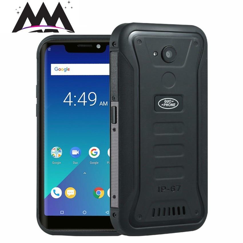 Guophone X3 4G smartphone IP68 waterproof Waterproof Android 8.1 Telephone MTK6739 Quad Core 5.5 4500mAh 2GB+16GB mobile phone  - buy with discount