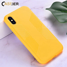 CASEIER Plain Phone Case For iPhone X XS MAX XR Soft Shockproof TPU Case Funda For iPhone X XS MAX 7 8 plus 6 6s Cases Cover цена и фото