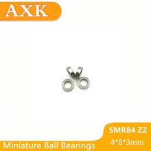2019 Hot Sale New Free Shipping Smr84zz Abec-3 (10pcs) 4x8x3 Mm Stainless Steel Miniature Smr84 Zz Ball Bearings Smr84-zz stainless steel bearings 1209 stainless steel self aligning ball bearings s1209 size 45 85 19