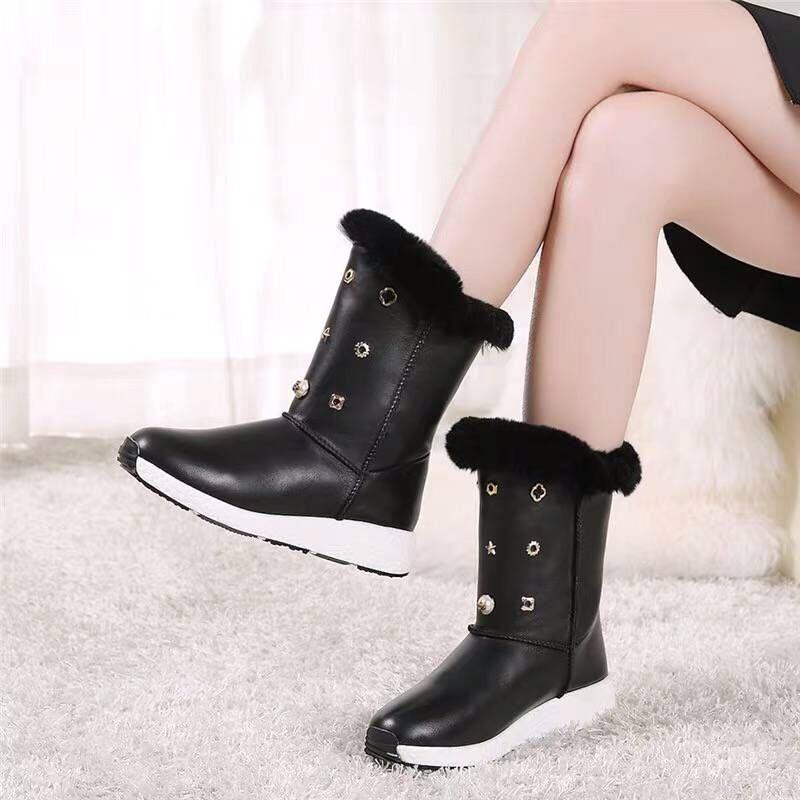 Dernière Bottes Caoutchouc Demi Pour Femmes Bérets Les Européenne Cuir Black Livraison En Gratuite Printemps chaussures Réel Mode Genu La D'été 100 2019 Bottes rrX5xq6