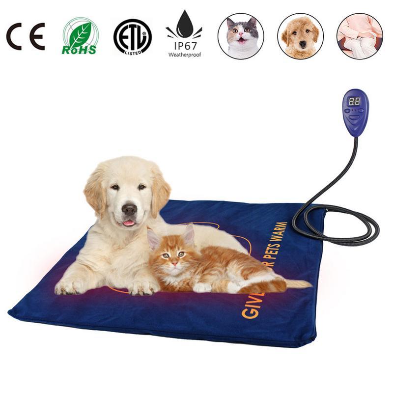 Pet chauffage pat Chien Chat Électrique coussin chauffant pour animaux Hiver Chaud Tapis pour Animaux Couverture Tapis Chauffant Tapis pad pour US UK UE