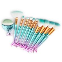 11pcs Makeup Brushes Eyeshadow Eyeliner Fan-shaped Foundation Powder Blush Inventory Clearance