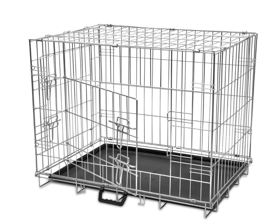 VidaXL 4 Sizes Foldable Metal Dog Houses Bench Folding Metal Dog Crate Foldable Pet Cat Cage Kennel Double-Door M L XL XXLVidaXL 4 Sizes Foldable Metal Dog Houses Bench Folding Metal Dog Crate Foldable Pet Cat Cage Kennel Double-Door M L XL XXL