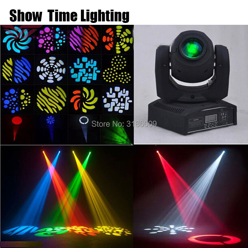 Show Time 30W Mini LED DMX Gobo Moving Head Spot Light Club DJ Stage Lighting Party Disco Moving Heads Light