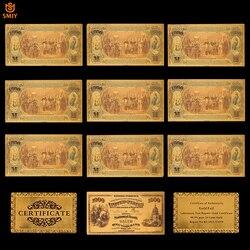 10 шт./лот США 1875 золотые банкноты 1000 долларов США банкноты 24k позолоченные копия ложных денег бумажные копии банкнот для коллекции