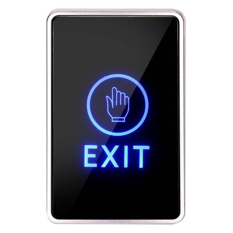 Touch Type Door Exit Button Infrared Sensing Door Exit Release Unlock Button Switch Panel LED Light for Access Control SystemTouch Type Door Exit Button Infrared Sensing Door Exit Release Unlock Button Switch Panel LED Light for Access Control System