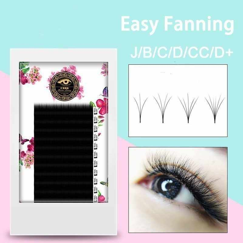 b4e4c5ef7a8 ZHIYOU Auto Fanning Bloom Volume Mega Easy Grafting False Eyelashes Blossom  0.05/0.07 Thick Natural