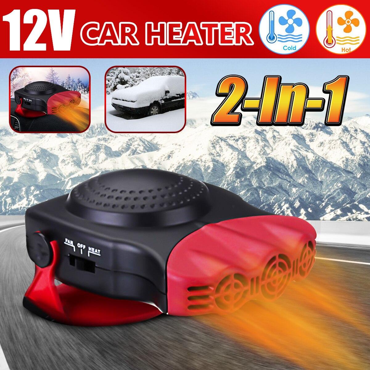 150 W portátil Auto de calefacción del calentador de ventilador de refrigeración parabrisas ventana Demister DEFROSTER de conducción Defroster Demister 12 V 12 V