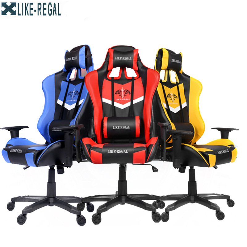 New Arrival Race Synthetic Leather Game Internet Cafe Computer Chair Comfortably Lie Home Armchairs