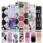 Tobebest Marble Case For Apple ipod touch 6 Cases For Apple ipod touch 5 Cover Geometry Splice Pattern Silicone TPU Cover