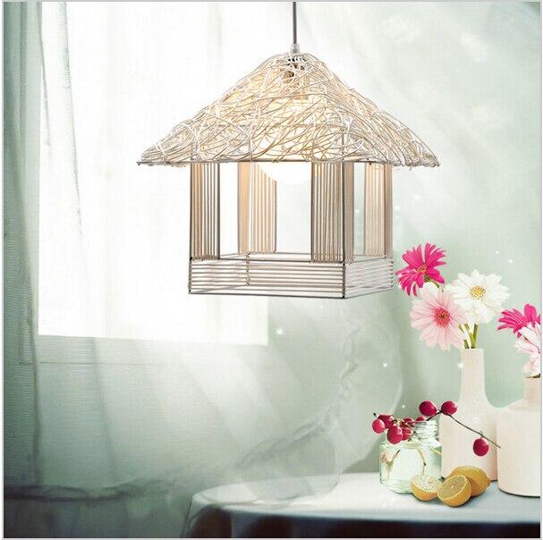 Нордическая гостиная ротанг светодиодная люстра, подвесной светильник, обеденные светодиодные подвесные лампы, светодиодные лампы ручной