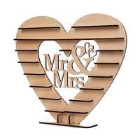 1 Набор деревянного сердца любовь конфеты шоколадный Стенд Свадебный Банкетный дисплей полка