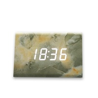 Marble Texture Wood Digital Alarm Clock Led Snooze Decorative Wooden Alarm Clocks Bedroom Electronic Desk Clock Birthday Gift