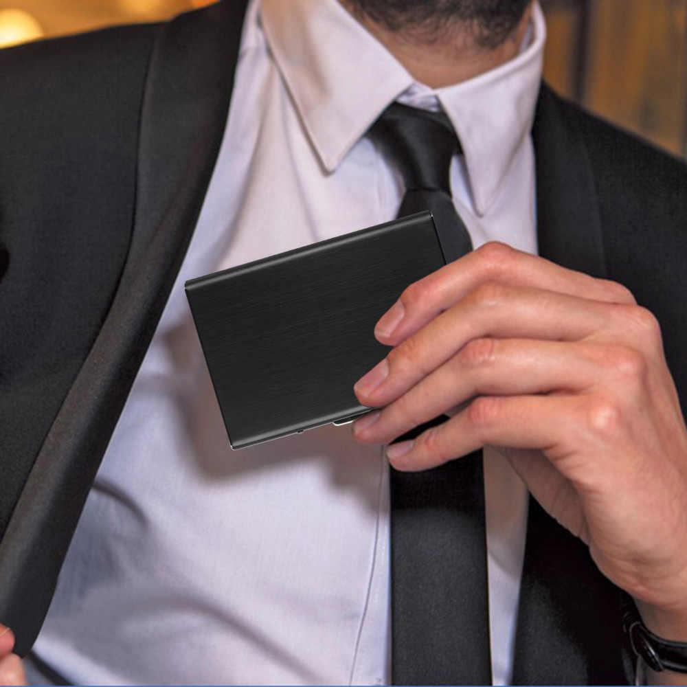 Из нержавеющей стали RFID Блокировка держатель кредитной карты бумажник чехол для ID карты визитные карты водительские права
