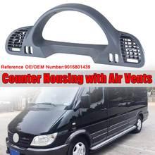 1х Автомобильная Внутренняя Рамка для инструментов, Накладка для счетчика, корпус с вентиляционными отверстиями для Mercedes для Benz Sprinter CDI 1999-2006 9016801439