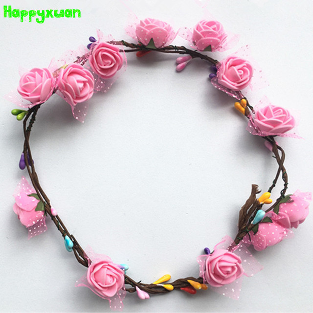 Happyxuan 5pcs DIY Headdress Floral Garland Handmade Kindergarten Craft Kit Handcraft Material Educational Creative Toy for girl