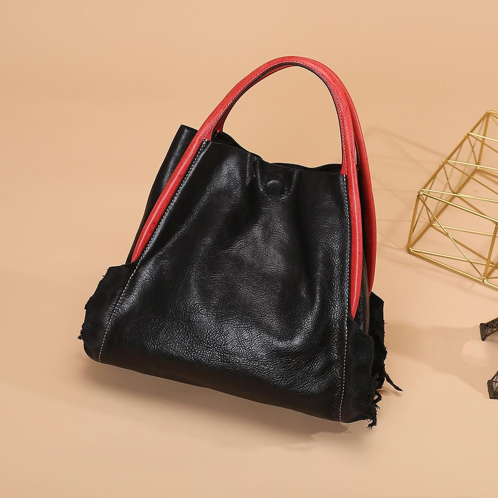 Pour Bolsas Luxe Feminina À En Femmes Femme red Sacs Sac Véritable Black Cuir De Designer blue Main TK1cJu3Fl