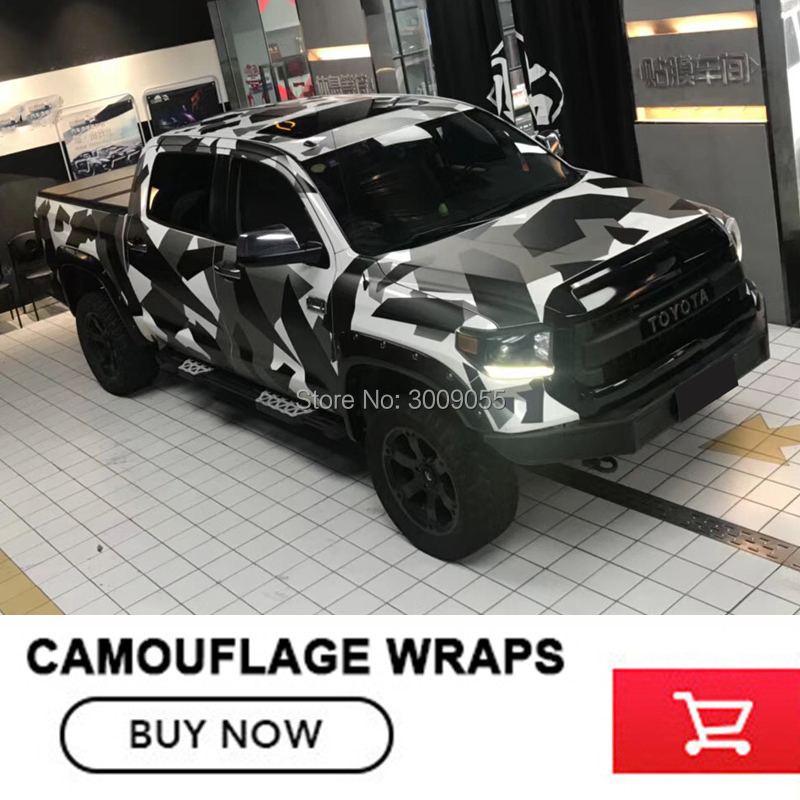 Adhesive Black White Camouflage Vinyl Car Wrap Black White Urban Camo Film With Air Bubble Free Diy Stickerr Foil 1 52x30m Roll Buy At The Price Of 72 00 In Aliexpress Com Imall Com