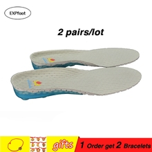 2 pair/lot Unisex Insoles for shoes sports running shoe pad spring insole shock absorptions for Basketball or Safety shoes