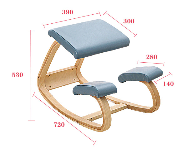 Купить с кэшбэком Original Ergonomic Kneeling Chair Stool Leather Seat Home Office Furniture Rocking Wooden Kneeling Computer Posture Chair Design