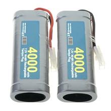 2 5x Tamiya Rc 7.2V 4000 Mah Grijs Plug Nimh Oplaadbare Batterij