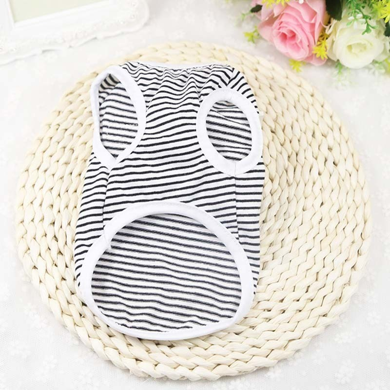 Dogs Matching Owner Clothes Classic Stripe Dog Shirt Cheap Dog Clothes For Small Dogs Summer Chihuahua Tshirt Cute Puppy Vest Yorkshire Terrier Pet Clothes  My Pet World Store
