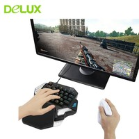 Delux T9X Wired Gaming Keyboard USB Half Mechanical RGB Backlight 33 Key Keypad Type C Interface For Gamer PUBG LOL PC Laptop