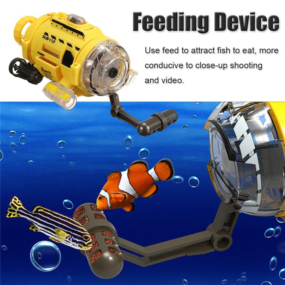 Fernbedienung Spielzeug Rc Boote Infrarot Control Spycam Aqua Submarine Einzigartige Fütterung Gerät Mit 0.3mp Kamera Led Licht Rc Spielzeug Für Kinder Neue Ankunft