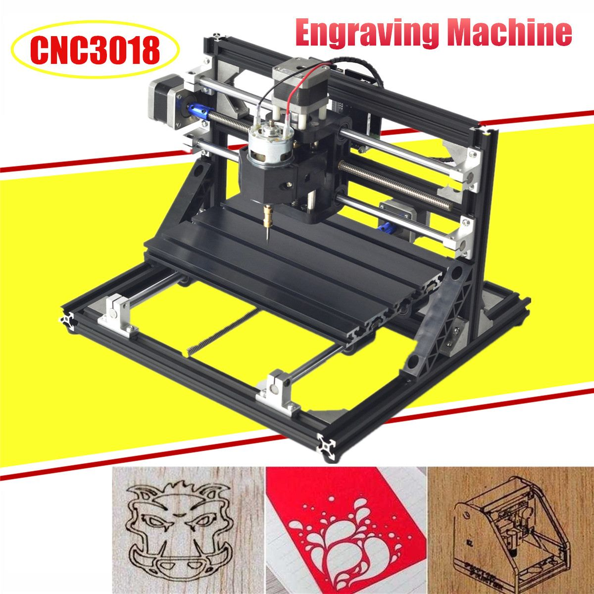 CNC3018,diy Mini Cnc Engraving Machine,laser Engraving,Pcb PVC Milling Machine,wood Router,cnc 3018,best Advanced Toys