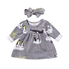 1d09a119d6453 Nouveau Arrivels Fille Pingouin Princesse Robe Printemps Enfants Bébé  Partie De Mariage Pageant Tulle Robe + Bandeau 2 Pcs Costu.