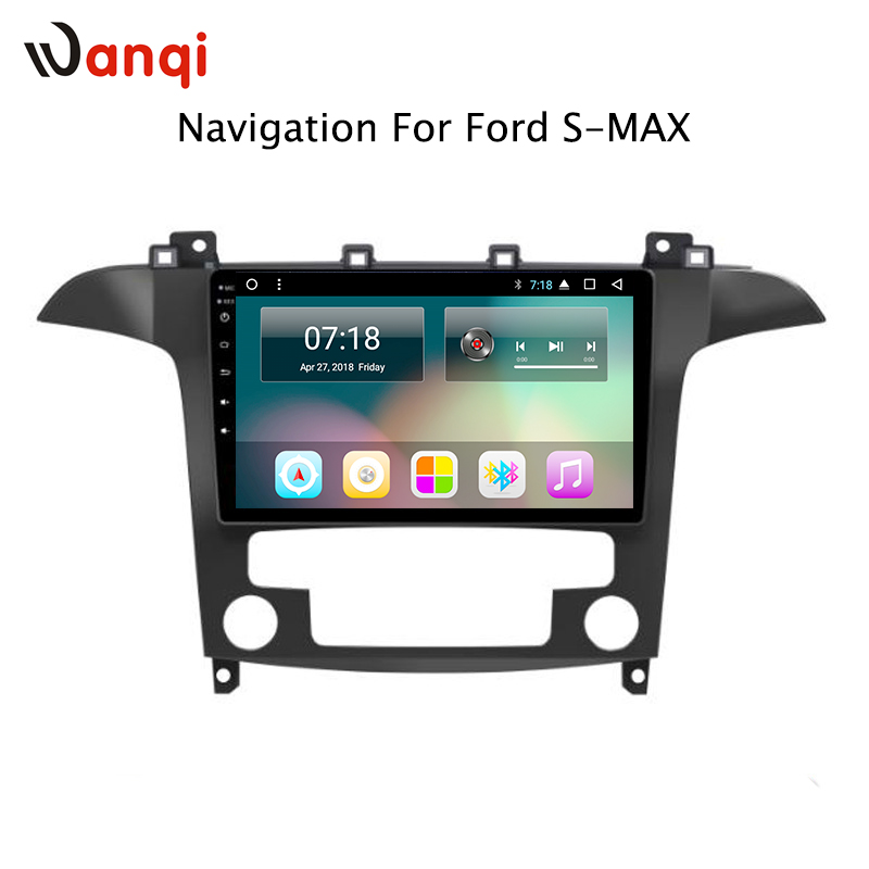 Vendita calda 9 pollice Android 8.1 Car Dvd Player Gps Per Ford S-Max Galaxy 2007 2008 built-in Radio video di Navigazione Bt Wifi