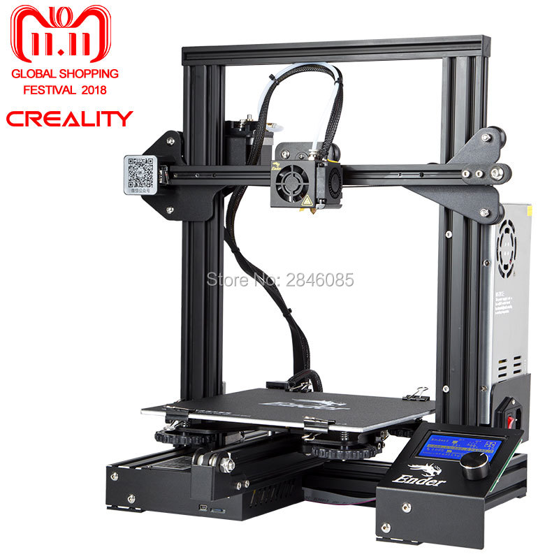 Ender-3 Creality 3D принтер v-слот prusa I3 комплект резюме мощность сбой принтер 3D DIY комплект 110C для очага
