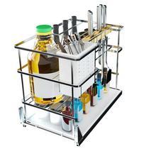 En La Ducha Armario De Despensa Gabinete Stainless Steel Organizer Cozinha Cocina Kitchen Cabinet Cestas Para Organizar Basket