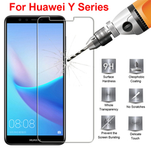 Glass on for Huawei Y6 Y7 Prime 2018 Y9 Y3 Y5 2017 Y6ii pro screen protector Y 3 5 6 7 9 protective glas tempered 2.5d 9H film