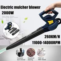 2000W 11000 14000rpm 260km/h Electric Portable Electric Blower Air Blower Air Blowing Machine Dust Leaf Air Blower