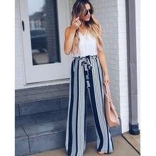 Fashion Summer Wide Leg lace up Pants Wo