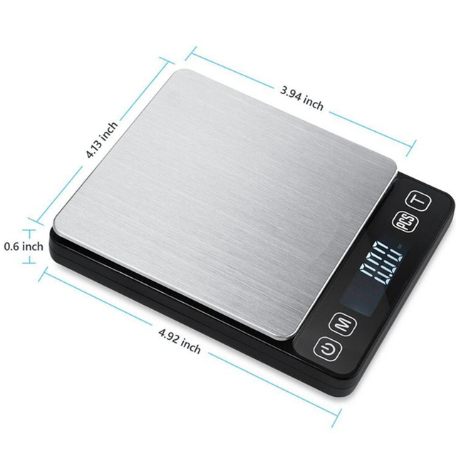 Portable Mini Electronic Food Scales Pockets Case Postal Kitchen Jewelry Weight Digital Scale Multi Use 500/3000g 2