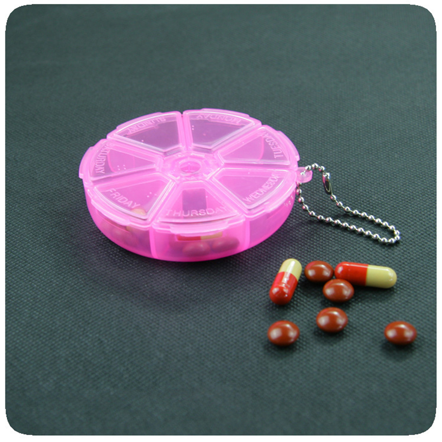 Mini Pill Box 7 Grid Weekly Pillbox Portable Medicine