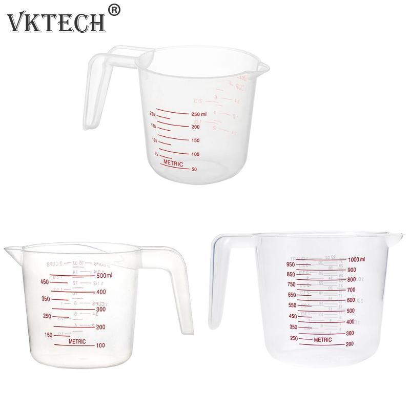 250/500/1000ML Plastic Measuring Cups Jug Pour Spout