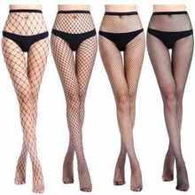 Collant filet ouvert pour femme, lingerie sexy en résille, taille haute, 1 pièce, tt016