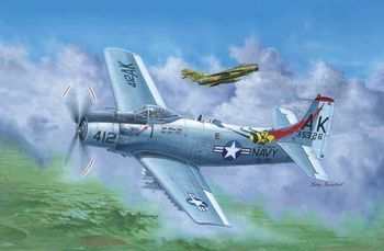 Trumpeter 02253 1/32 A-1H AD-6 Sky Raider Attack Airplane Aircraft Fighter Model