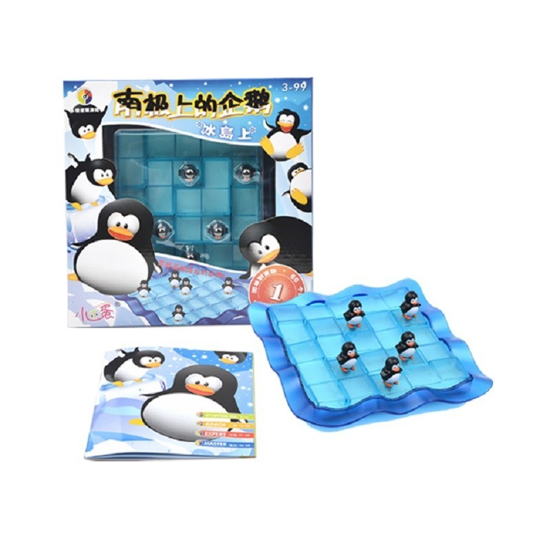 60 Challenges Improve Kids  Thinking Ability Penguins On Ice Smart Montessori Family Party Interactive Toys For Children 50